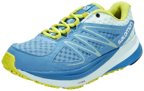 Salomon Sense Pulse Trailrunning Shoe Women mist blue/igloo blue/gecko green 38 2015 Trail Running Schuhe IoQWBa0